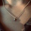 sterling silver mini skull pendant necklace on